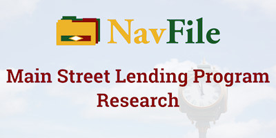 navfile main street lending program research