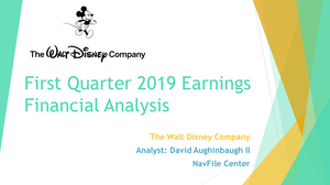 The Walt Disney Company 2019 Q1 Financial Analysis Slide 1
