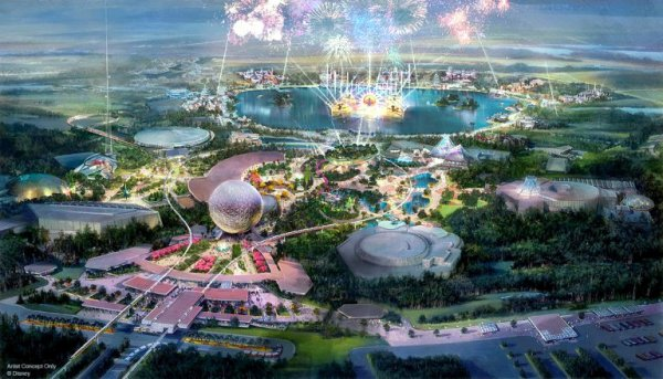 A Photo of the new Epcot in 2019 (Rendering)