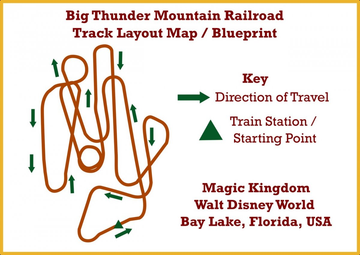 Big thunder mountain railroad track layout blueprint walt disney big thunder mountain railroad track layout blueprint walt disney world navfile malvernweather Images