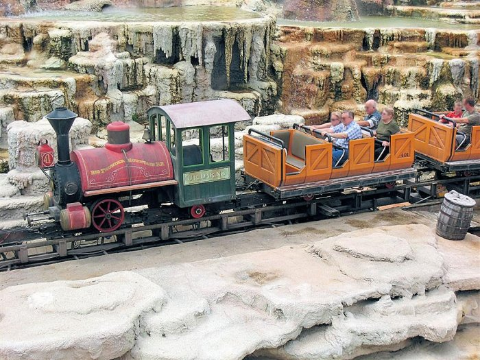 A Picture of Big Thunder Mountain Railroad's Train Cars at Walt Disney World Resort