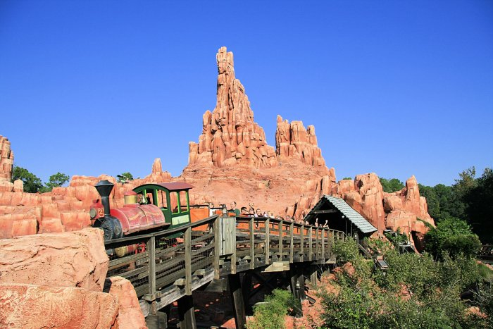 A Photo of a Big Thunder Mountain Railroad Train U.R. Darling at the Magic Kingdom in Walt Disney World