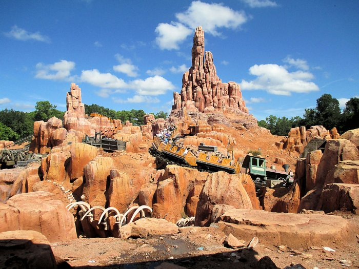 A Photo of The Big Thunder Mountain Railroad Roller Coaster at Walt Disney World Resort's Magic Kingdom