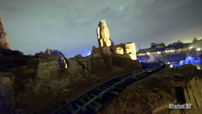 A Photo of Big Thunder Mountain Railroad At Night at Walt Disney World Resort