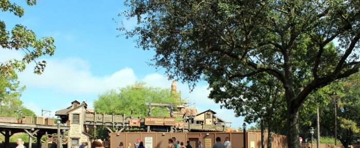 A Photo of Big Thunder Mountain Railroad Construction With the Ride Closed Down