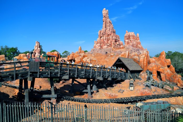 A Photo of the Big Thunder Mountain Railroad Drop Height and Overall Ride Height