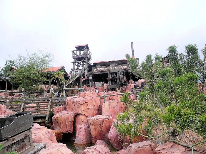 Big Thunder Mountain Railroad Line or Queue Picture Walt Disney World Magic Kingdom