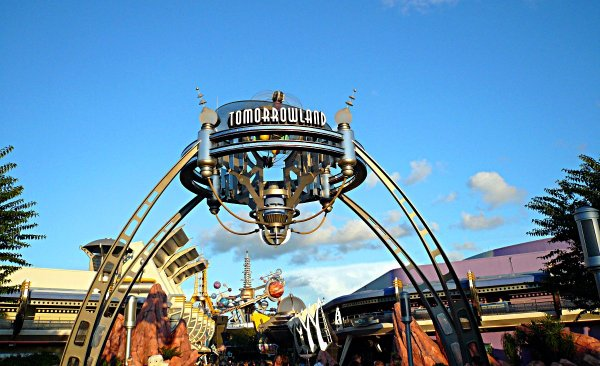 Photo of The Tomorrowland Entrance in the Magic Kingdom Walt Disney World Florida