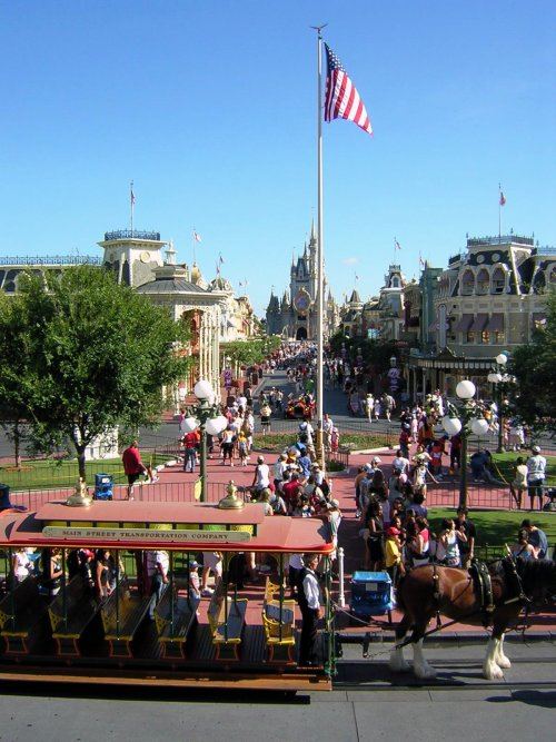 The Magic Kingdom at Walt Disney World Resort Main Street View