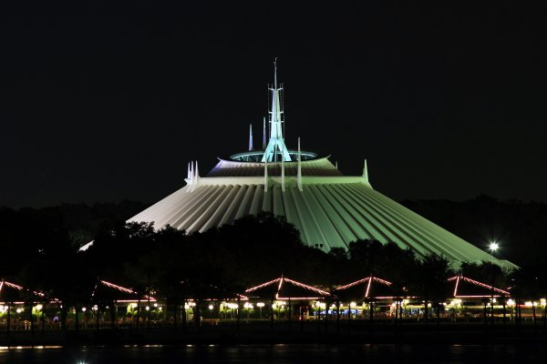 space mountain drop height