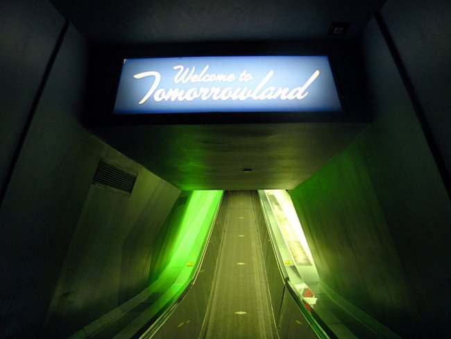 Space Mountain Exit Tunnel At Walt Disney World Florida