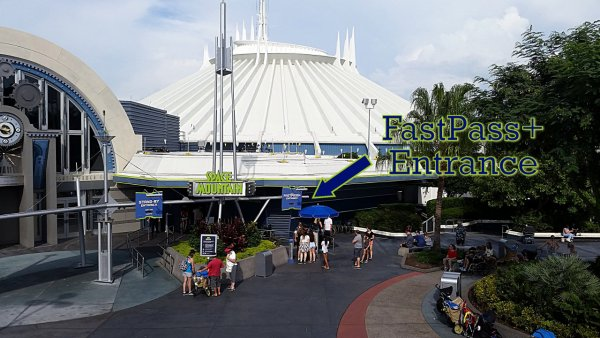 Photo of The Space Mountain FastPass+ Entrance Walt Disney World