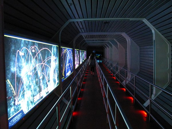 Photo of the Space Mountain Line or Queue at the Magic Kingdom Walt Disney World