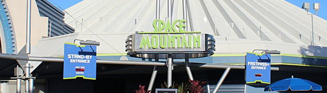 Space Mountain Logo at The Magic Kingdom Walt Disney World Resort