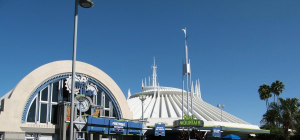 The Front Enterance to Space Mountain Magic Kingdom at the Walt Disney World Resort