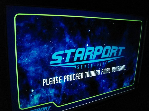 Space Mountain Starport Seventy Five Logo at Walt Disney World