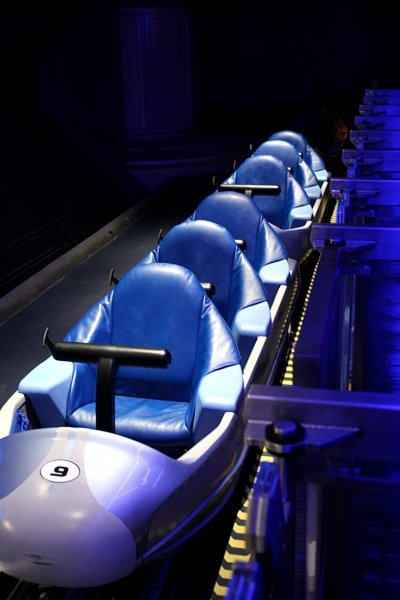Space Mountain Train Photo - No Upside Down Loops