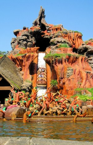 A photo of Splash Mountain's Big Drop at Walt Disney World Florida