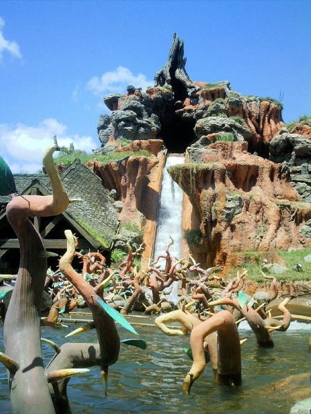 Our Splash Mountain Facts Page Photo featuring the 50 foot drop for the ride