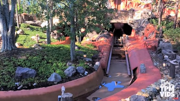 Splash Mountain with No Water at Walt Disney World