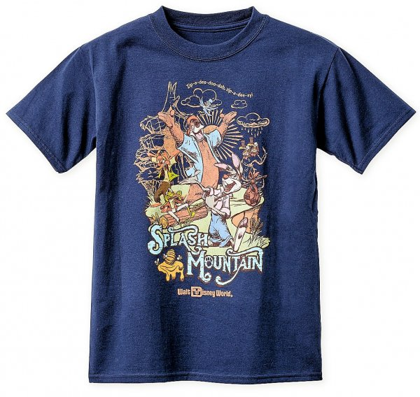 A photo of the Splash Mountain T-Shirt with the 1980s Walt Disney World Logo