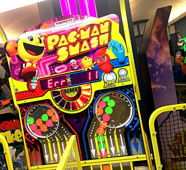 Pac-Man Smash Air Hockey Game in Tomorrowland Arcade At Space Mountain
