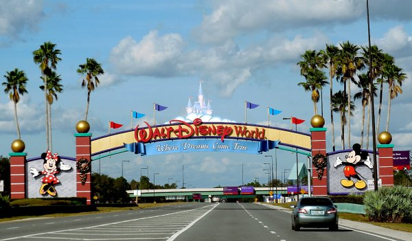 A photo of one of the Walt Disney World Entrances in Bay Lake, Florida
