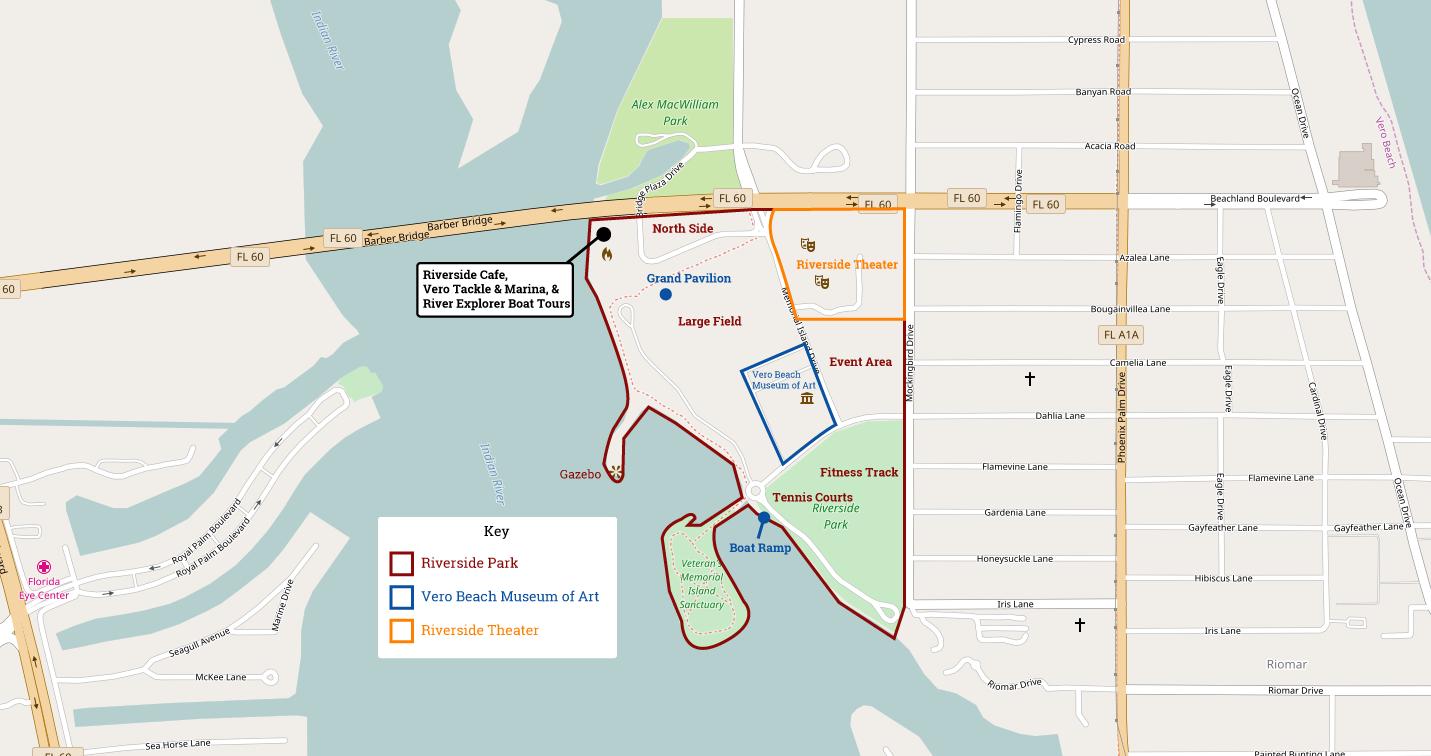 Vero Beach Florida Map.Riverside Park Vero Beach Florida Navfile