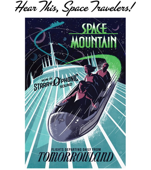 Space Mountain Art For The Walt Disney World Attraction