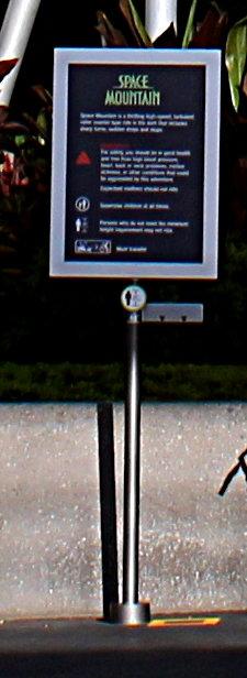 Space Mountain Sign Walt Disney World | NavFile