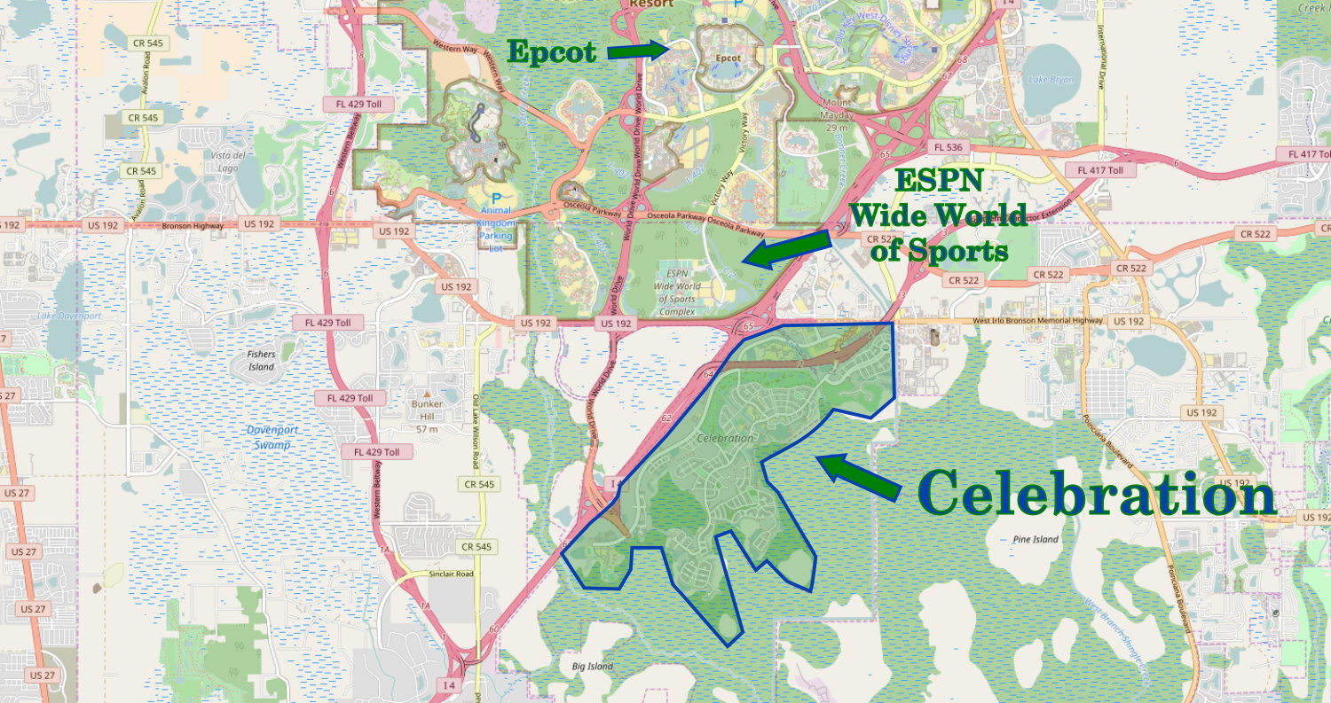 Walt Disney World Subdivision Florida Overview | NavFile on